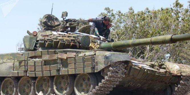 """الجيش يسيطر على ناحية """"التمانعة"""" شرق خان شيخون بريف إدلب"""