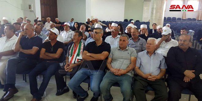 أهلنا في الجولان: نثق بحتمية تحرير كامل الجولان بهمة وبطولات الجيش