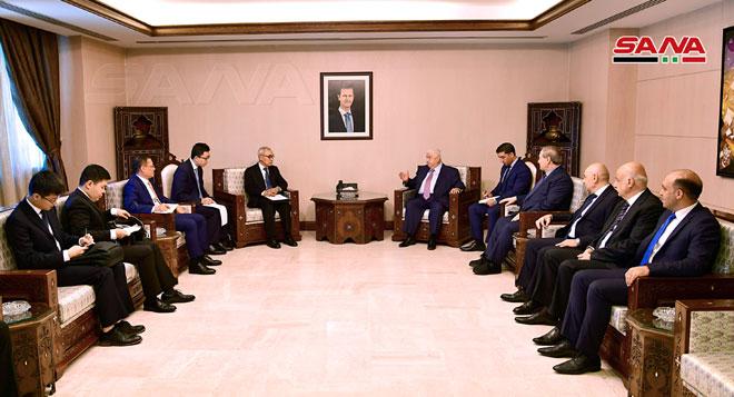 """Photo of وفد """"دبلوماسي صيني"""" بدمشق لبحث العلاقات الثنائية"""
