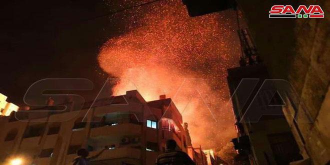 Photo of أضرار مادية بحريق اندلع بمدرسة بمنطقة المهاجرين بدمشق