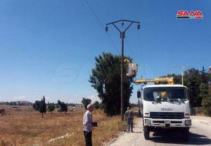 Photo of عودة الكهرباء إلى قرية أم باطنة وجوارها بريف القنيطرة