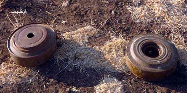 Photo of شهيد وإصابة أربعة آخرين بانفجار لغمين من مخلفات الإرهابيين في ريف دمشق