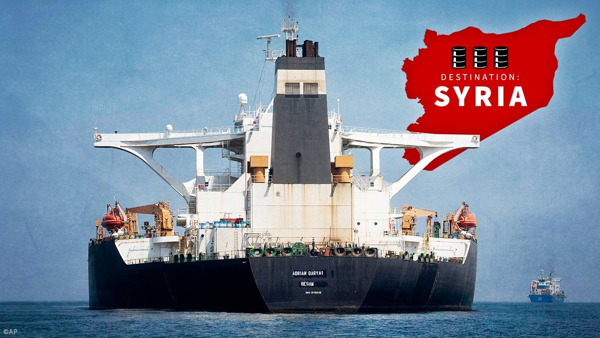 """Photo of هستيريا أمريكية من ناقلة النفط الإيرانية """"أدريان داريا 1"""" المتوجه إلى """"ميناء طرطوس"""""""