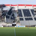 انهيار سقف مدرجات ملعب فريق هولندي بسبب الرياح
