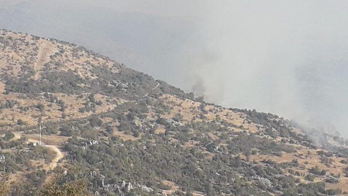 Photo of الاحتلال الإسرائيلي يُلقي مواد حارقة في مزرعة بسطرة ويقصف جبل الروس وتلال كفرشوبا اللبنانية