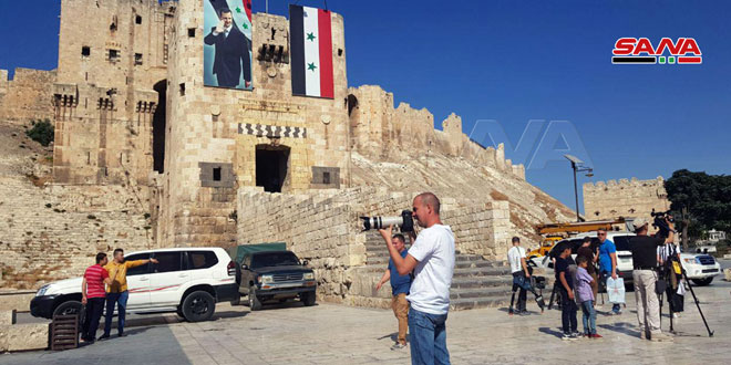 "Photo of وفد إعلامي من ""أوروبا -وآسيا – وأمريكا"" يزور حلب (صور)"