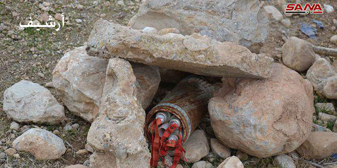 Photo of استشهاد 3 مدنيين وإصابة 2 جراء انفجار عبوة ناسفة من مخلفات الإرهابيين في محيط صوران بريف حماة