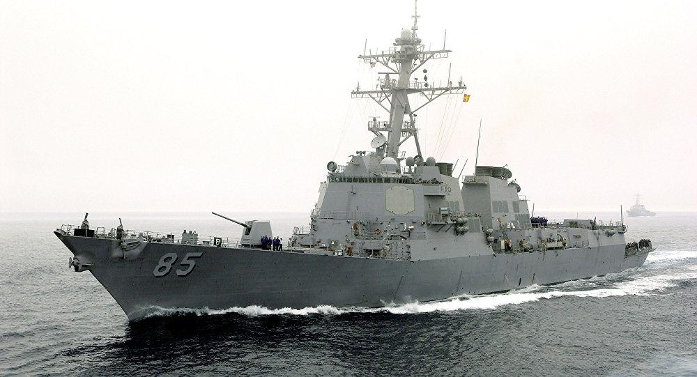 Photo of سفينة أمريكية عسكرية ترسو في مرفأ بيروت