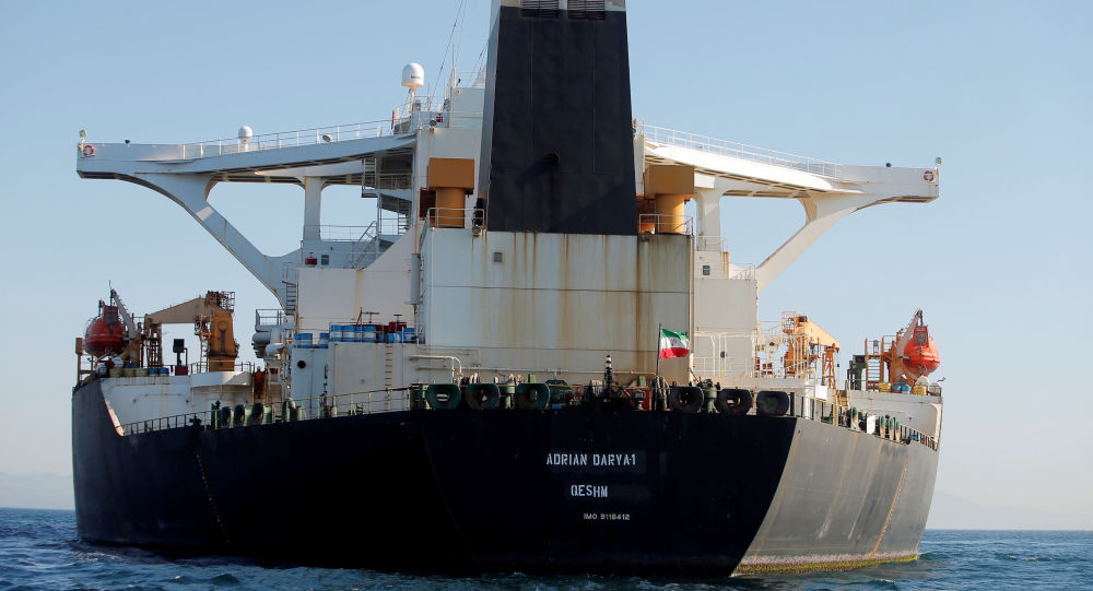 "Photo of ""أسوشيتد برس"" :صور الأقمار الصناعية تظهر ناقلة النفط الإيرانية قرب ميناء طرطوس السوري"