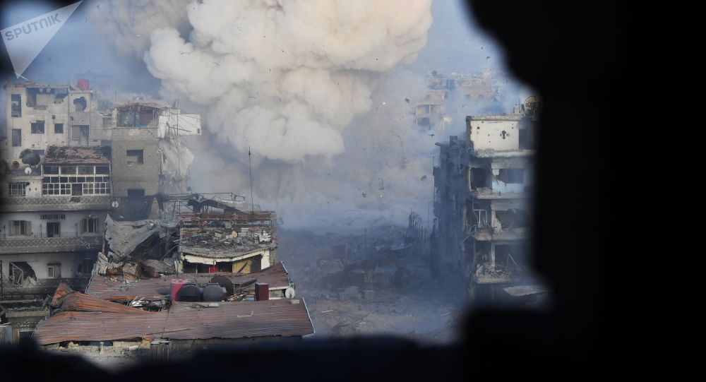"""Photo of داعش تقصف بلدة """"الرصيف"""" شمال حماة بالقذائف الصاروخية"""