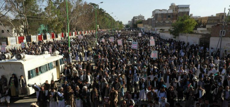 """Photo of اليمن.. مسيرات احتفالية بعملية """"نصر من الله"""" ضد العدو السعودي"""
