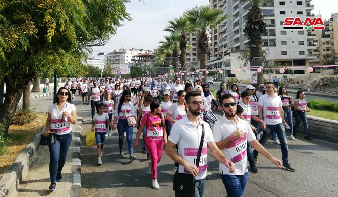 Photo of دمشق…انطلاق ماراثون التوعية بالكشف المبكر عن سرطان الثدي(صور)