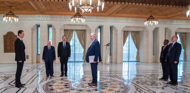 Photo of الرئيس الأسد يتقبل أوراق اعتماد سفيري أندونيسيا وجنوب أفريقيا لدى سوريا