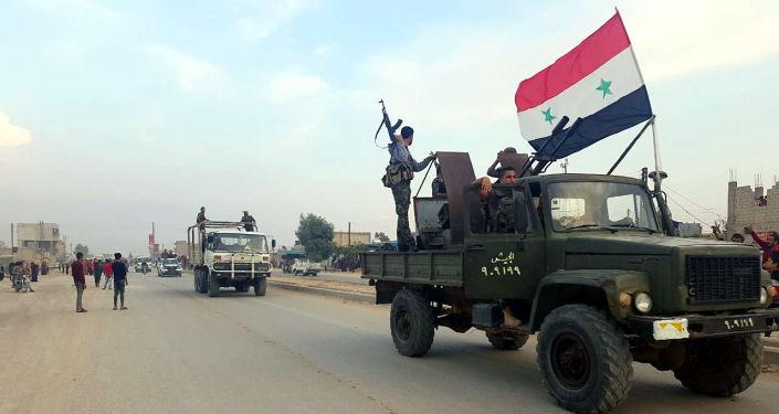 Photo of Syrian Arab Army redeployed in Ras Al-Ain countryside