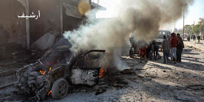 Photo of استشهاد وإصابة 13 مدنياً بانفجار سيارة مفخخة بريف الرقة