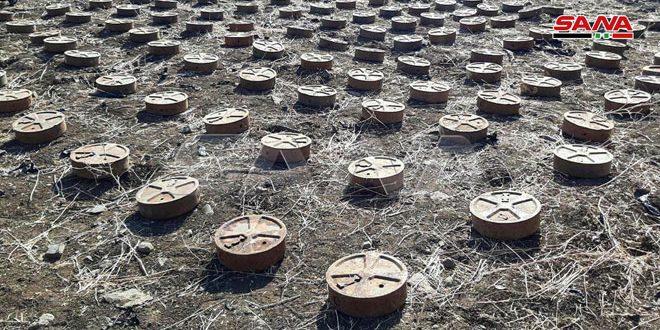 Photo of العثور على مستودع ألغام إسرائيلية وأمريكية بريف القنيطرة (صور)