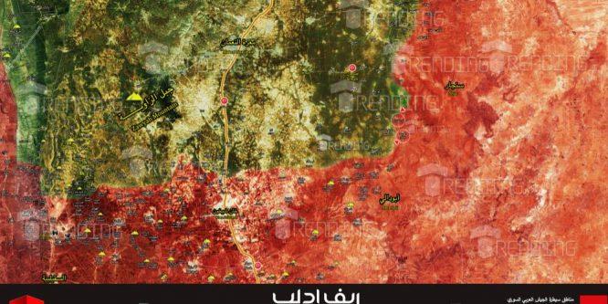 الجيش يتقدم بريف ادلب ويُحرر قرى جديدة (خريطة)
