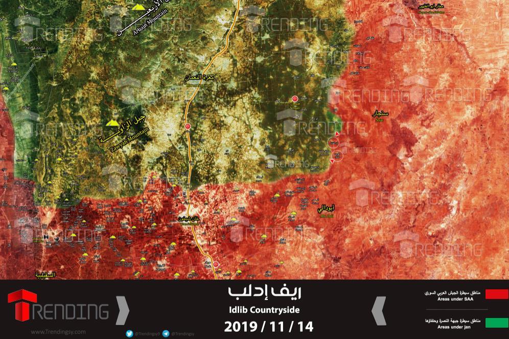 Photo of الجيش يتقدم بريف ادلب ويُحرر قرى جديدة (خريطة)