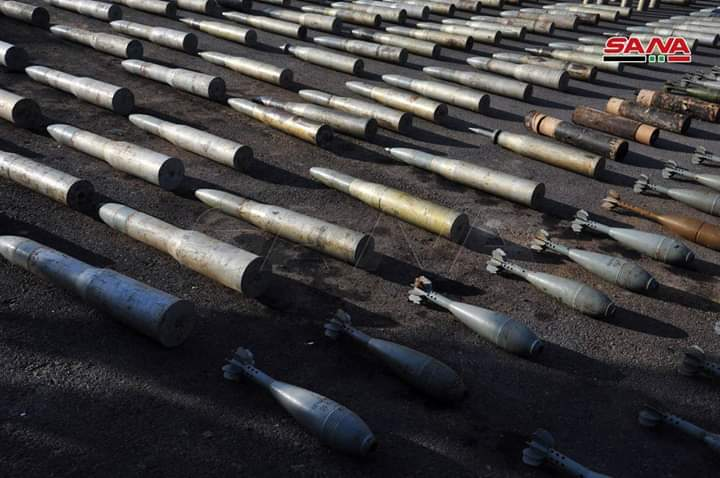 Photo of Large quantities of weapons and ammunition left over from terrorists in the southern region