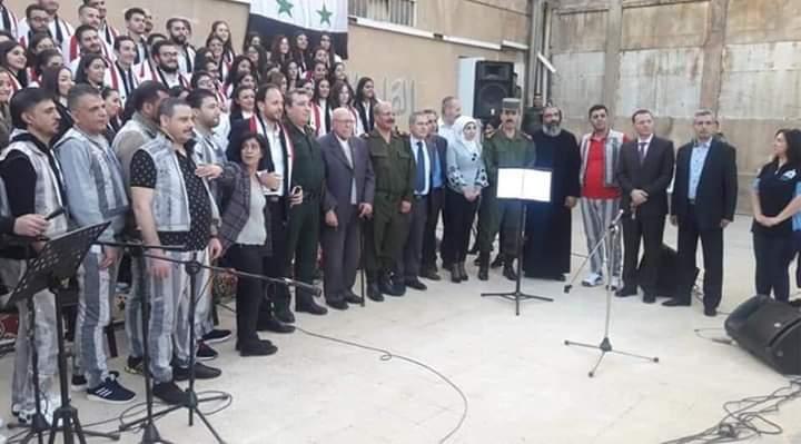 Photo of Al-Farah Choir performs a concert at Damascus Central Prison