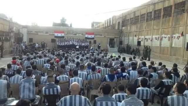 "Photo of حدث نادر.. موسيقا ""جوقة الفرح"" داخل سجن دمشق"
