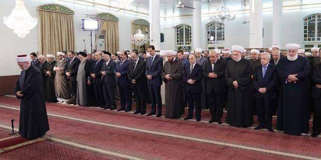 Photo of President al-Assad participates in religious celebration of Prophet Mohammad's birthday