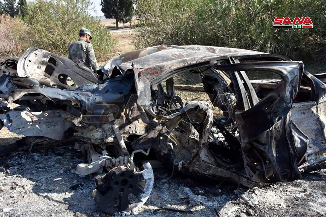 Photo of بالصور- الجيش يُدّمر عربة مفخخة شمال خان شيخون بريف إدلب