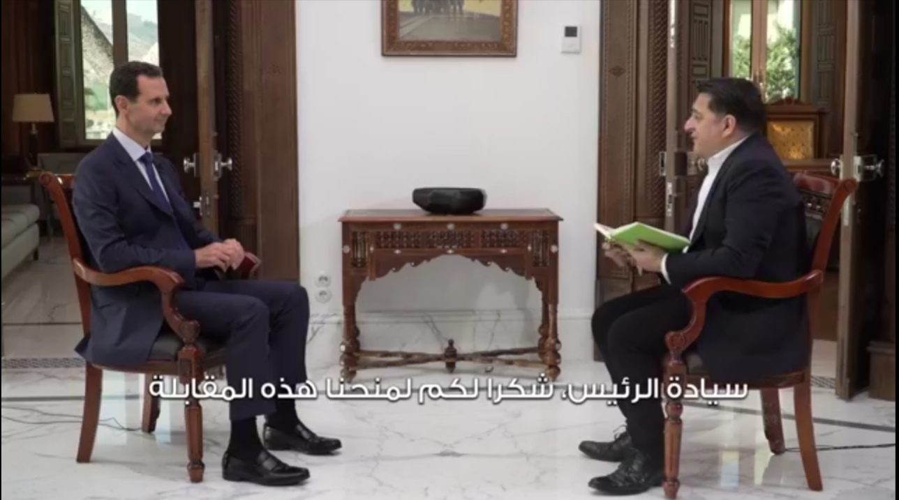 Photo of The video of interview of president alAssad with RT channel