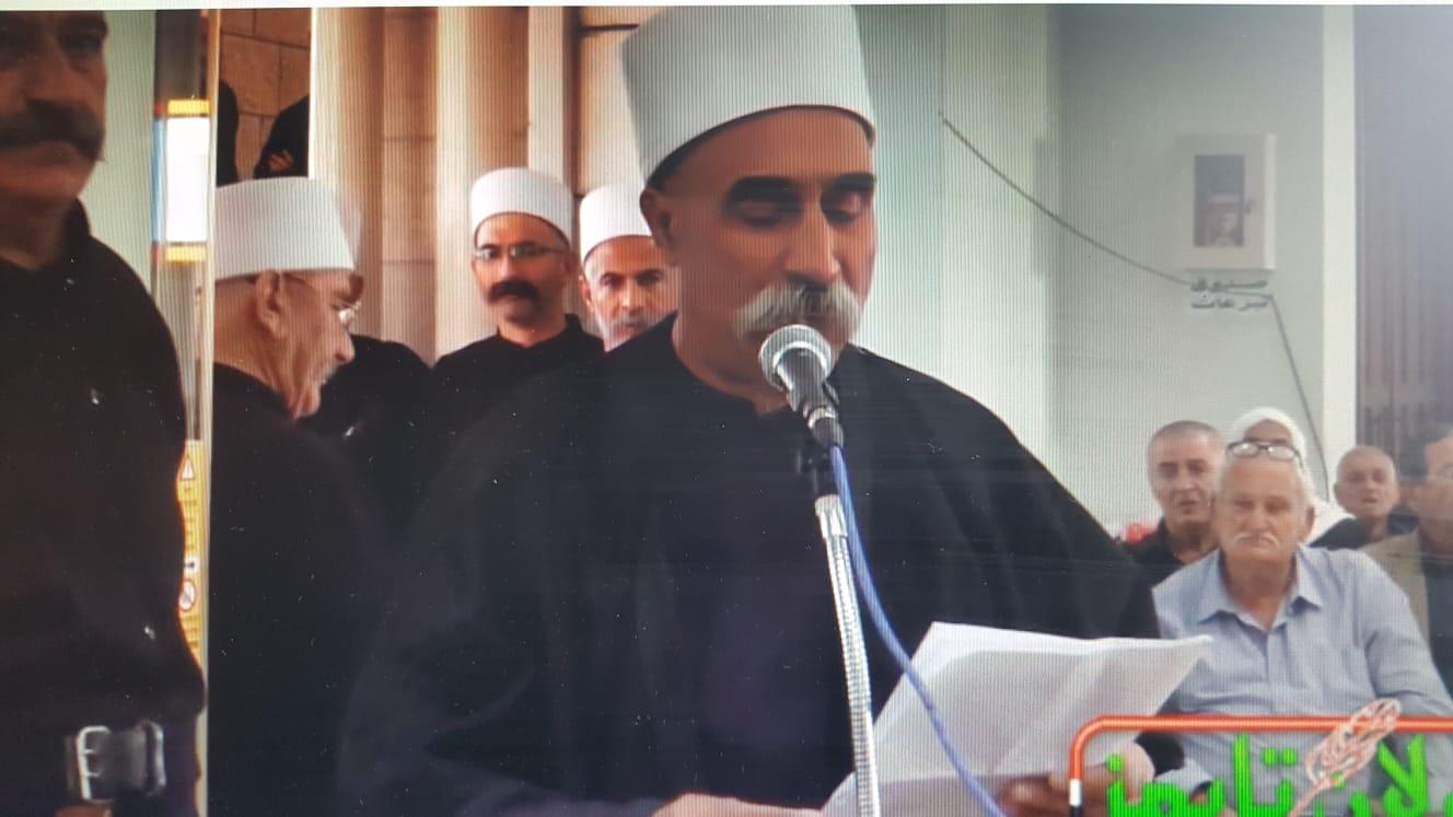 Photo of كلمة الشيخ علي معدي في حفل تابين المرحوم الشيخ ركان الاطرش في الجولان المحتل