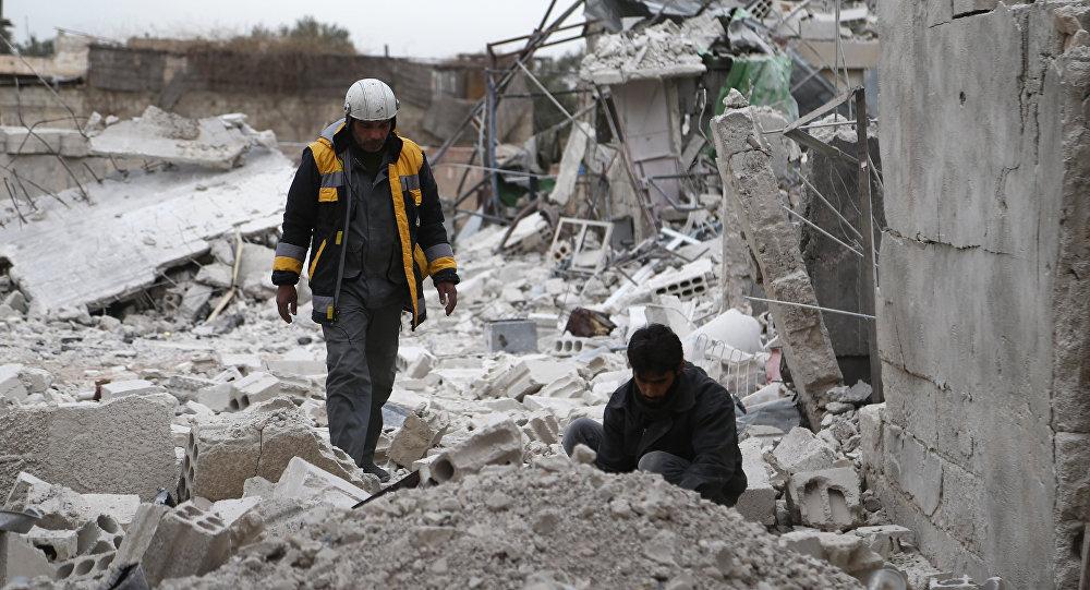 "Photo of انفجار شحنة متفجرات بقيادة "" الخوذ البيضاء"" بريف ادلب"