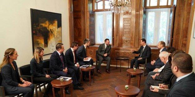 Photo of الرئيس الأسد يستقبل وفداً روسياً برئاسة ديمتري سابلين