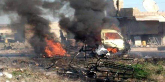 Photo of استشهاد 5 مدنيين وإصابة 11 آخرين في انفجار سيارة مفخخة بالحسكة