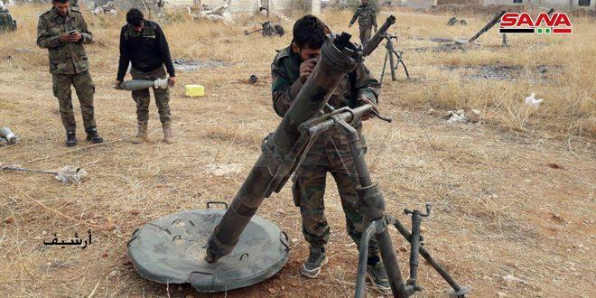 Photo of رداً على اعتداءها بالقذائف.. الجيش يقصف مواقع إرهابية بريف حلب