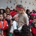 Mrs. Asma al-Assad visited the Armenian school and shared the celebration of the festivals