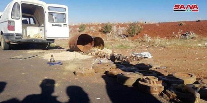 Photo of Car bomb set to be detonated on Damascus –Daraa international highway dismantled