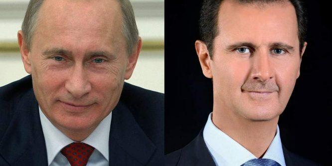 الرئيس الأسد يُهنئ الرئيس بوتين بالعام الجديد