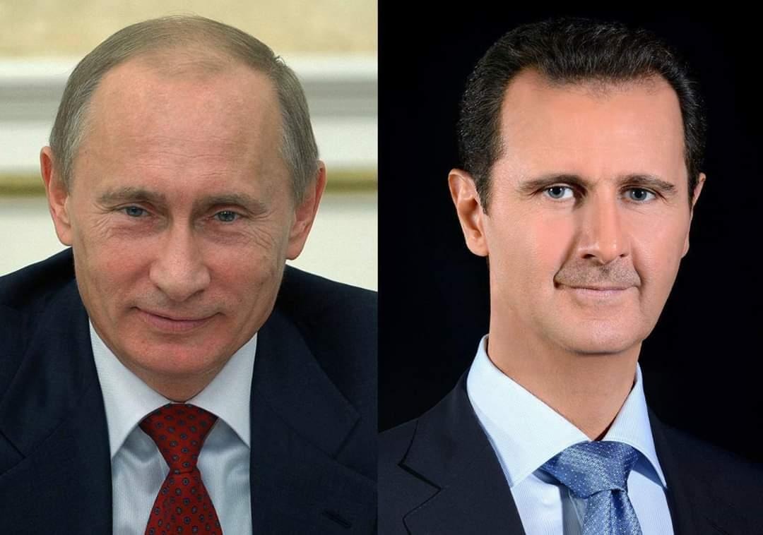Photo of الرئيس الأسد يُهنئ الرئيس بوتين بالعام الجديد
