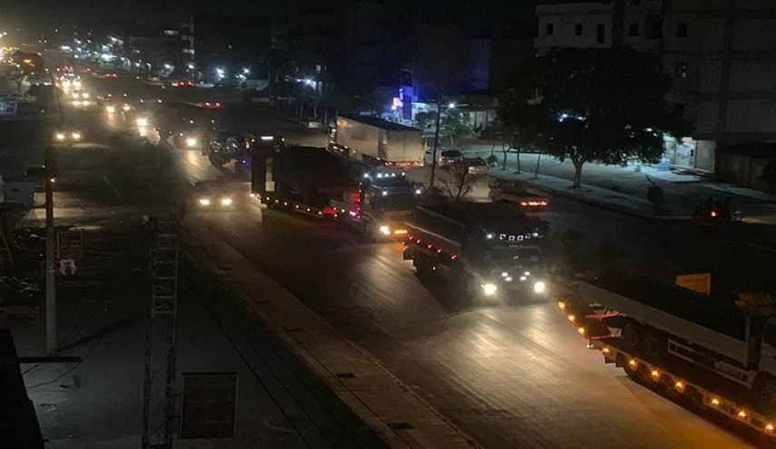 Photo of شاحنات أمريكية محملة بمواد لوجستية تدخل القامشلي
