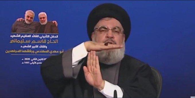 نصر الله مهدداً الجيش الأمريكي: جاؤوا عمودياً وسيعودون أفقياً