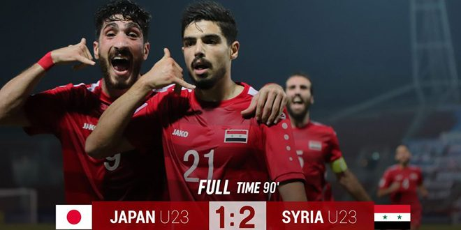 Photo of Syrian Olympic football team beats Japan 2-1 in U-23 Asian Cup