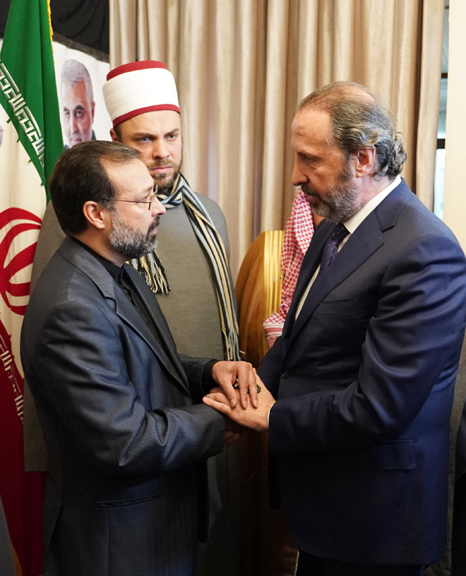 Photo of Azzam offers condolences over martyrdom of Suleimani and his companions