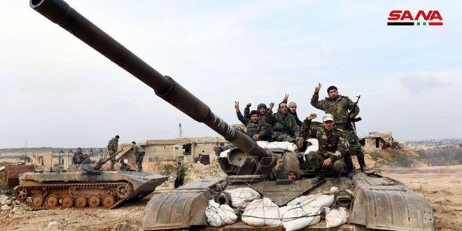"""Photo of بالفيديو- الجيش يبدأ بتمشيط أحياء """"معرة النعمان"""""""