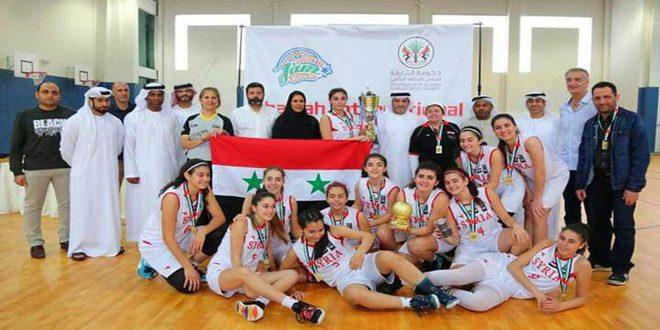 """Photo of """"ناشئات سوريا"""" يُحققنَ لقب بطولة الشارقة الدولية بكرة السلة"""