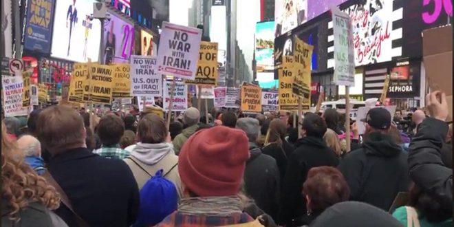 Photo of مظاهرات في عدد من المدن الأمريكية رفضاً لأي حرب مع إيران