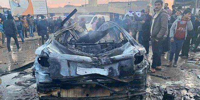 Photo of Eight civilians martyred, 20 injured due to car bomb blast in A'zaz city in Aleppo countryside