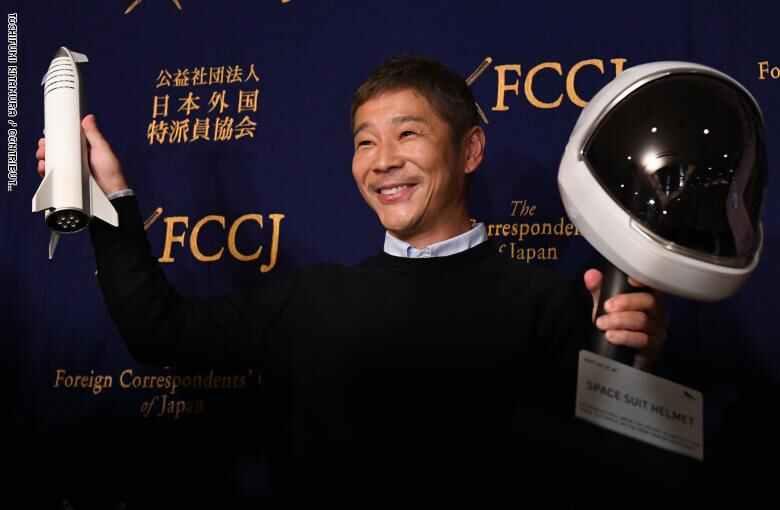 Photo of ملياردير ياباني يبحث عن شريكة حياة لتذهب معه في رحلة إلى القمر