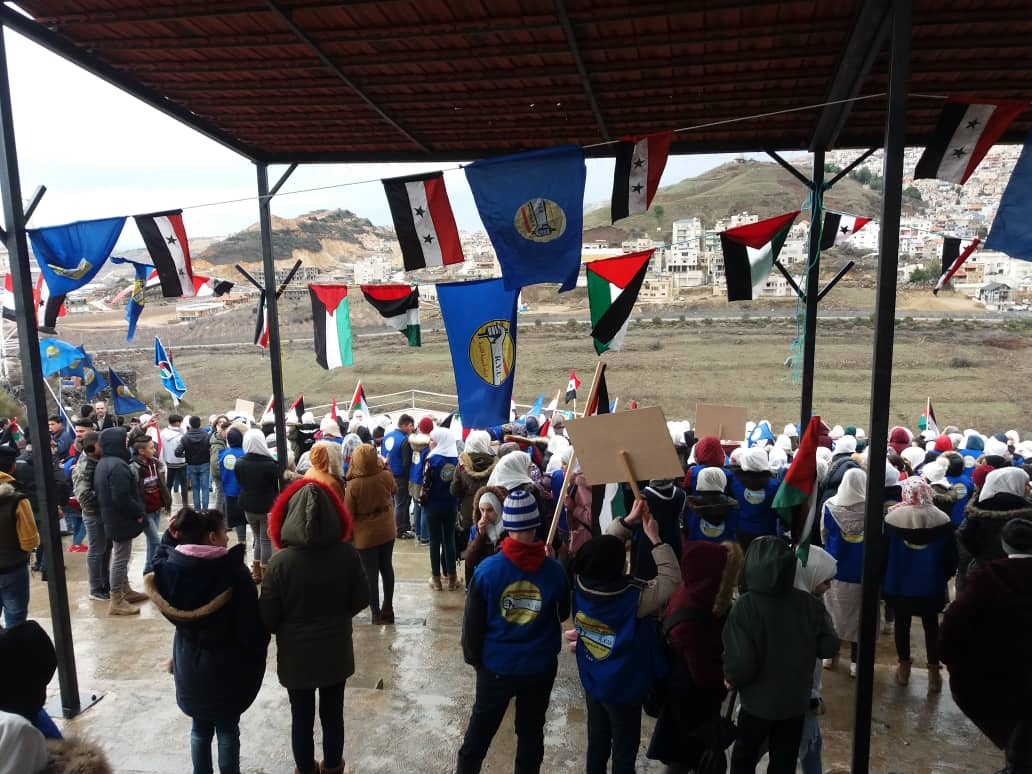 Photo of وقفة مباركة و تهنئة بتحرير عميد الاسرى السوريين صدقي المقت في موقع عين التينة