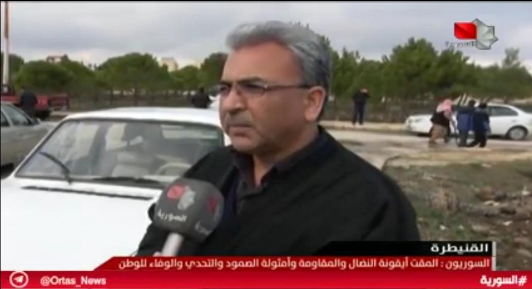 "Photo of السوريين: ""المقت"" أيقونة النضال والتحدي وسيتحرر الجولان بأمثاله"