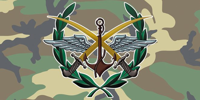 Photo of Military source: The General Command of the Army and the Armed Forces affirms that any breach of the Syrian airspace will be treated as an external military aggression