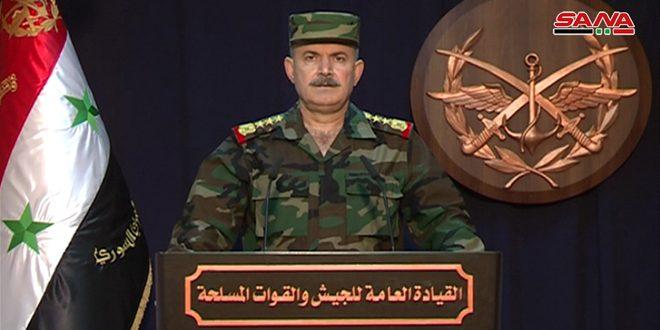 Photo of بيان قيادة الجيش: التقاء القوات المحررة بريفي ادلب وحلب